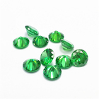 Zircon Emerald Green High Quality Brilliant Cut Stone China Factory Bulk Sale Emerald Green Zircon Gemstone