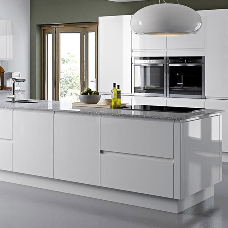High Gloss White Melamine Vinyl Wrap Door Display Kitchen Cabinet View White Melamine Kitchen Cabinet Apex Product Details From Guangzhou Apex Building Material Co Limited On Alibaba Com