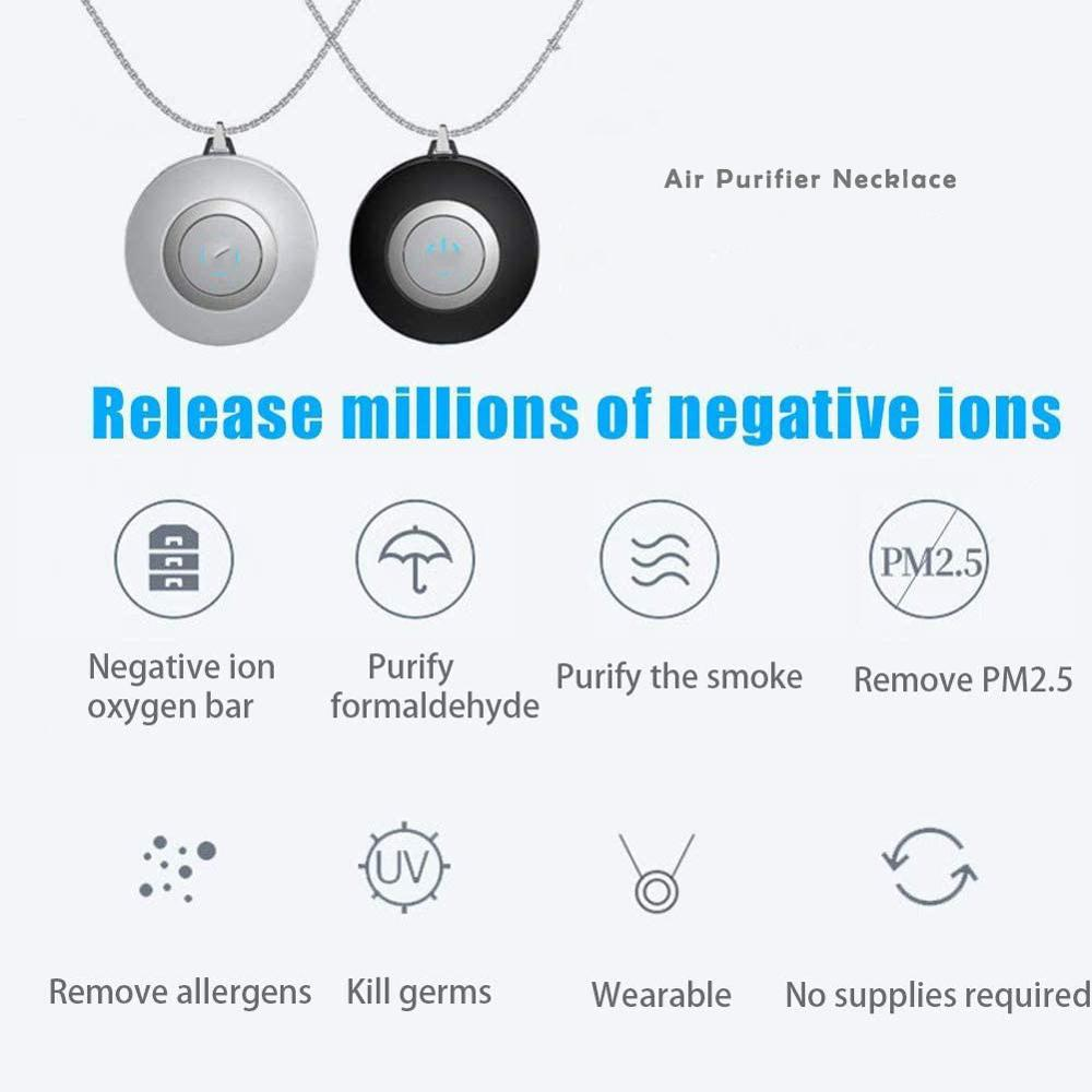 Hot Selling Wearable Personal Ionizer Necklace Uv Portable Home Ozone Car Air Purifier