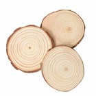 Natural Pine Round Unfinished Wood Slices Circles With Tree Bark Log Discs DIY Crafts Round Wood Slice