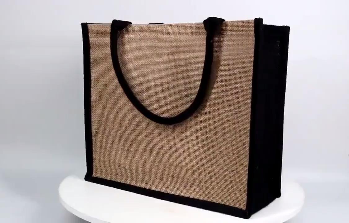 Custom Reusable Eco Friendly Shopping Bag Jute Bag