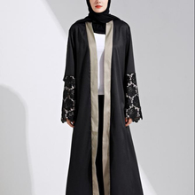 Nouvelles Conceptions Broderie Cardigan Vêtements Islamiques <span class=keywords><strong>Mode</strong></span> Avant Ouvert Kimono Style Arabe Dubaï Musulman <span class=keywords><strong>Abaya</strong></span>