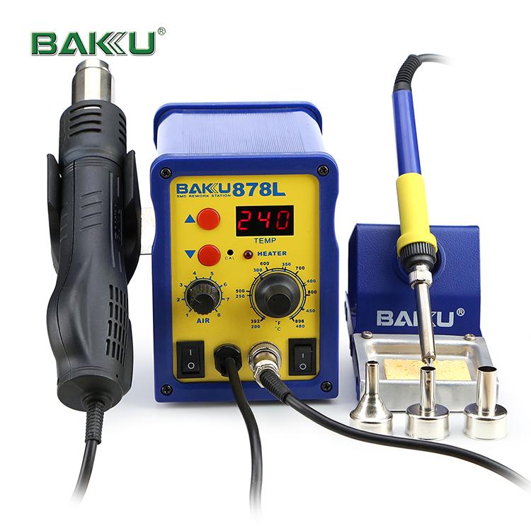 BAKU new product hot sale BK-878L LED digital display mobile rework soldering station SMD bga Rework Station