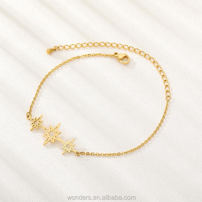 Star Preferita Minimalista Braccialetto Dei Monili per Le Donne di Colore Oro