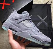 2020 KAWS x Retro 4 XX Kaws крутая серая белая черная светящаяся Баскетбольная обувь Мужская лучшее качество 4s белые синие Черные кроссовки Jordans(Китай)