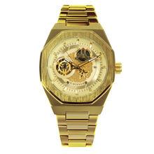 Победитель официальные автоматические часы мужские Роскошные Скелет механические часы классический ремень из нержавеющей стали бизнес по...(Китай)
