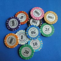 las vegas stickers CLAY poker chips wholesale