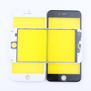 mobile phone glass maker yellow protective film front glass lens Contain frame are suitable for iphone 6 6plus