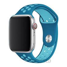 Новый силиконовый спортивный ремешок для Apple Watch 5 4 3 2 1 42 мм 38 мм резиновый ремешок для Iwatch series 5 4 3 40 мм 44 мм(Китай)