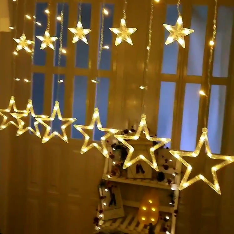 2.5 متر 138 led الستار سلسلة أضواء منافذ مصنع led ستار كبير الستار عيد الميلاد ضوء بالجملة