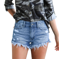 Casual teenage girls sexy ripped side split jeans women 2020 black in cargo shorts women