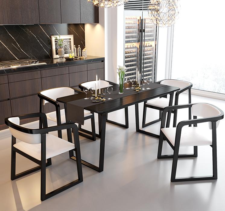 Diseño italiano moderno muebles de comedor mesa de comedor de madera maciza 8 plazas con guarda tu gratitud esquina