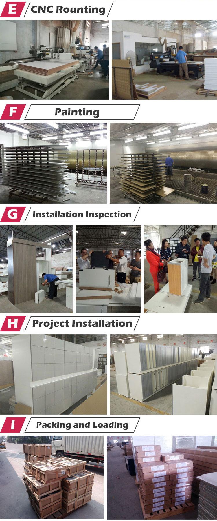 Customized new design project wholesale modern modular kitchen