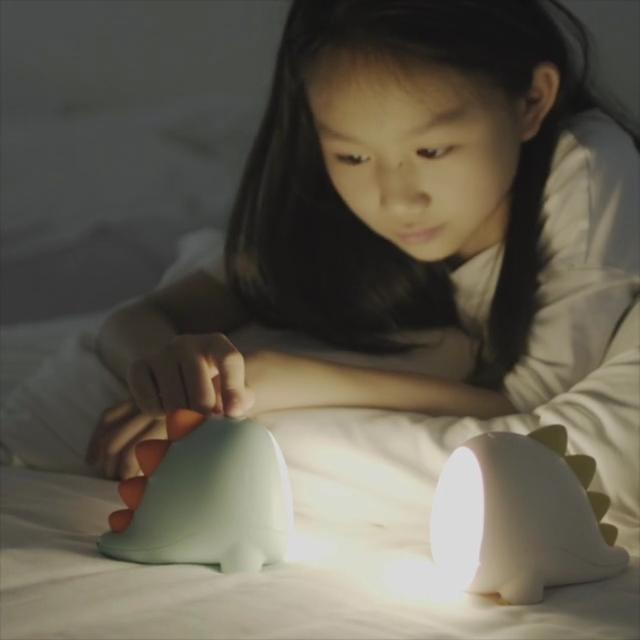 Yarrae Rechargeable Cute Dinosaur LED Nursery Baby Sleep Night Light