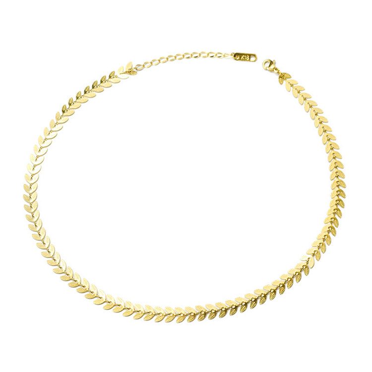 18K Gold Plated Stainless Steel Silver Link Chain Necklace for women