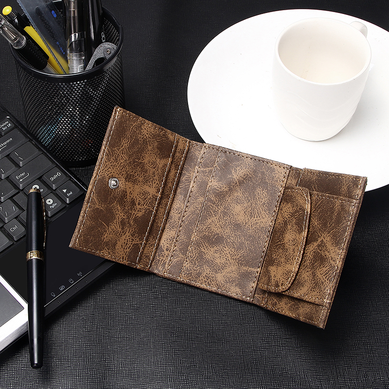 product-New Men Wallets Small Money Bag Retro Design Top Men Thin Wallet With Coin Purse Short Busin-1