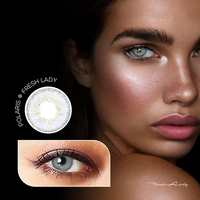 2020 Freshlady yearly wholesale color contact lens soft Polaris colored circle contact lenses eye