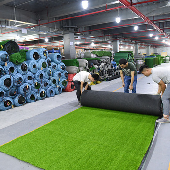 2020 customized color chinese artificial grass synthetic grass for soccer fields artificial grass prices