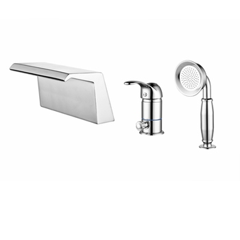 High Quality Deck Mounted 3-Hole Bathtub Brass Faucet Set Waterfall Bath Faucet Mixer Tap