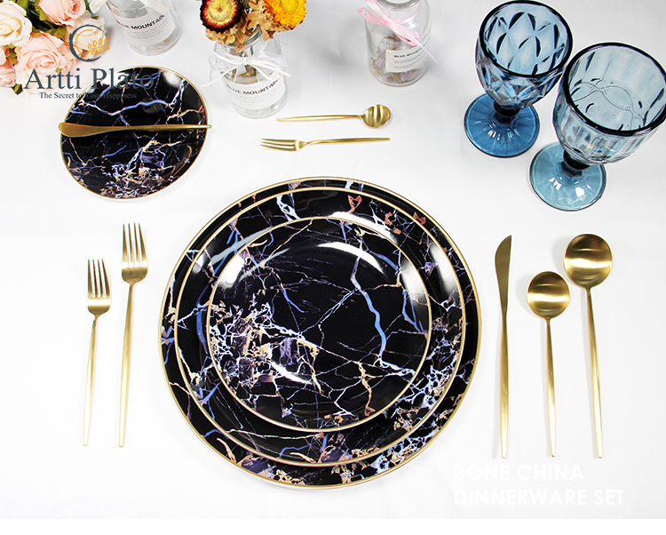 table top gold chargers underlay porcelain formal dining plates luxury porcelain dinner set luxury dinnerware set 12 for home