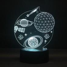 Зуб замок пространство ночник 3D LED 16 видов цветов сменный сенсорный выключатель Новинка лампа для украшения дома стоматологическая клиника...(Китай)