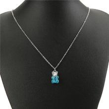 1 шт., женское ожерелье из разноцветной смолы, медвежонок, кулон, детский подарок на день рождения, женские Украшения(Китай)