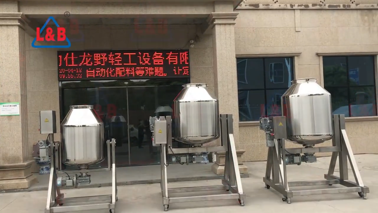 L and B Factory Directly Sell Stainless Steel Rotating Drum Mixer for mixing dry powder