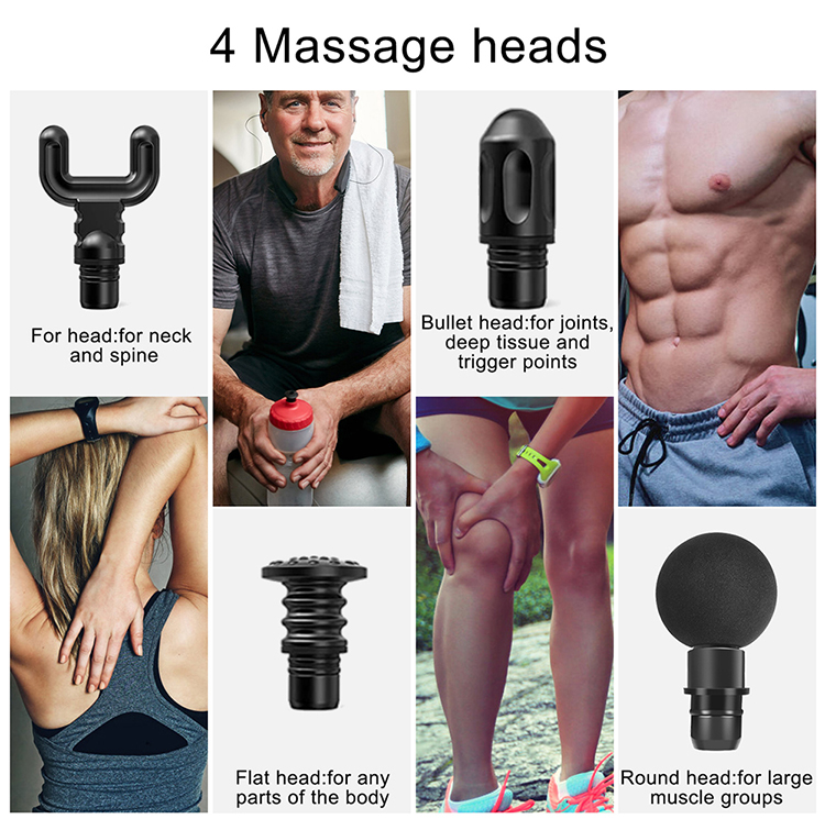 Deep tissue strong exercise therapy sports body tapping muscle massage gun with storage box, with FDA certificate