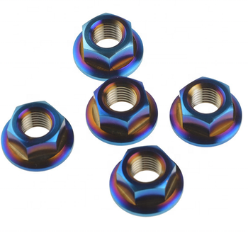 M10 burnt gold purple Titanium Flange Nuts For Motorcycle