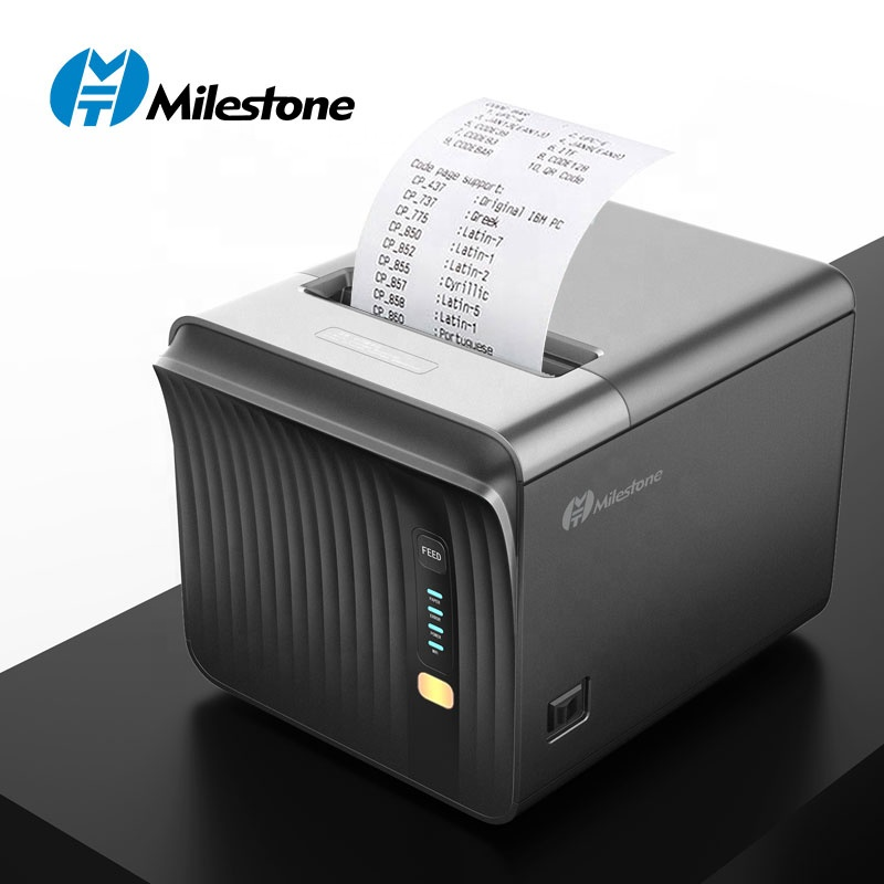 Milestone <strong>Printer</strong> MHT-P80A Kitchen receipt <strong>printer</strong> wifi bluetooth com Lan USB ports 250mm/s High speed 80mm pos thermal <strong>printer</strong>