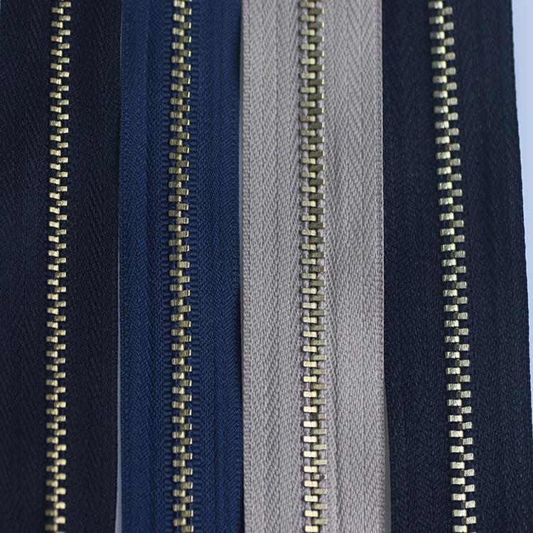 Factory direct sales No. 5 closed jeans placket zipper pocket pocket zipper black self-locking accessories metal copper zipper