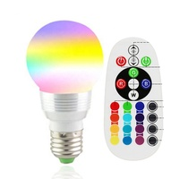 New style 85-265V 3W LED Lamp Magic Holiday lighting Remote Control 16 Colors e27 rgb light bulb