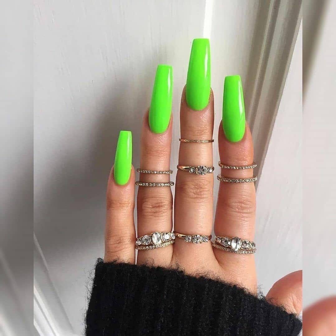 GW Gute Qualität Großhandel Drücken Sie Auf Nagel Tipps 100pcs box gelb langen nagel