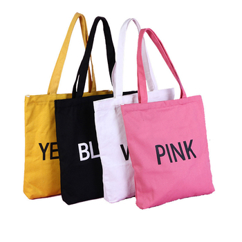 Wholesale eco friendly popular customized cotton canvas shopping grocery bag