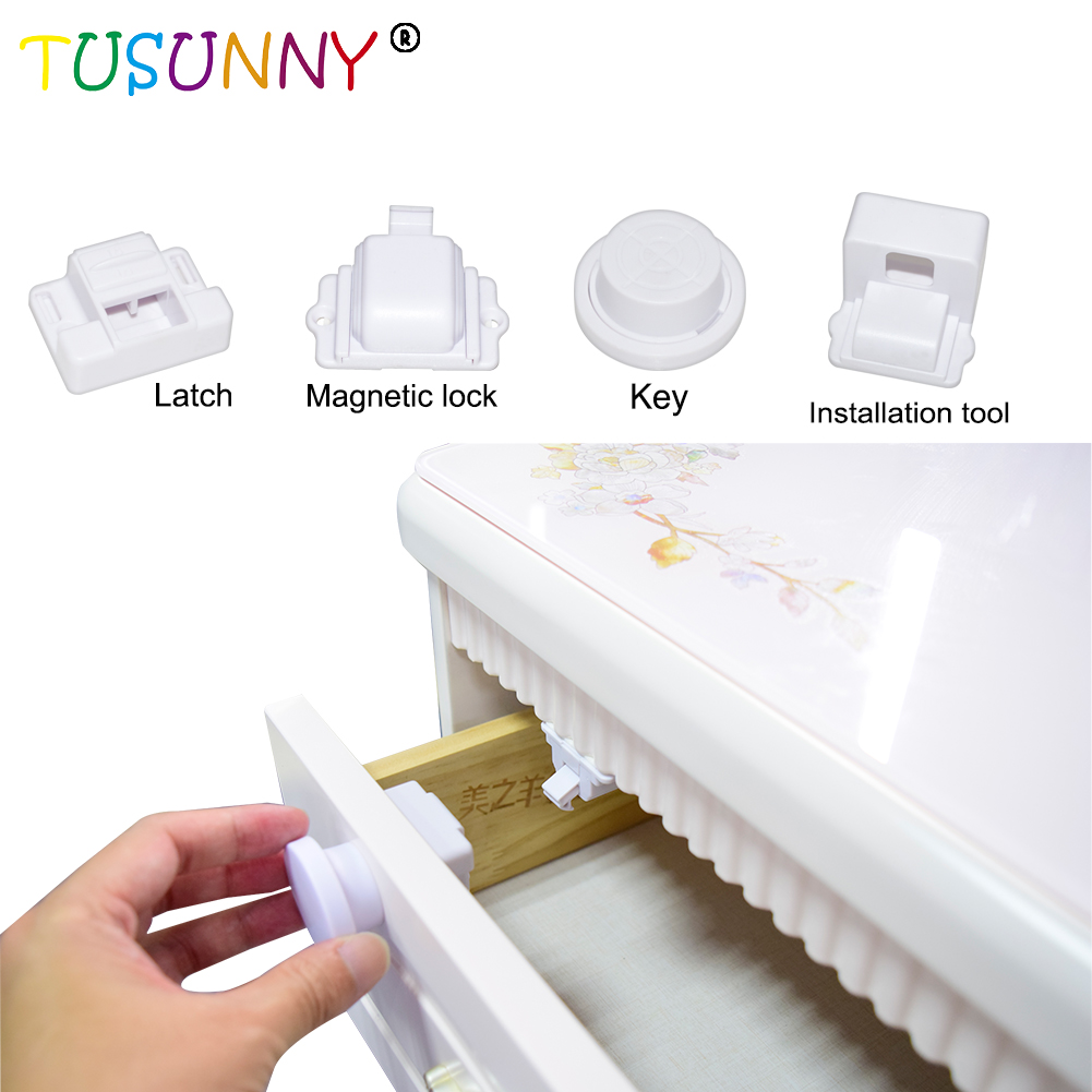 Baby Safety ABS Magnetic Lock Child Drawer Lock