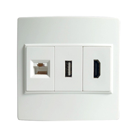 Wall Plate HDMI+CAT6 RJ45+USB Media Wall Face plate