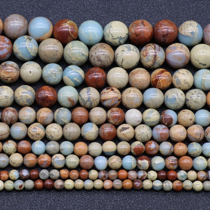 Natural Agalmatolite Beads Round ShouShan Stone Beads