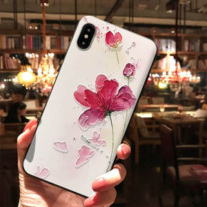 3D Emboss Flower Case For Phone 11 Pro Max 8 7 6 6s Plus X XR XS