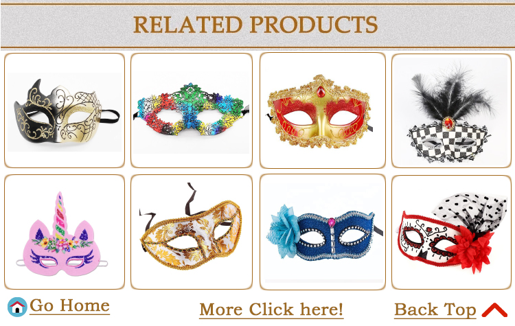 PGAC3774 Halloween party plastic mask masquerade Venice mask half face multicolor mask