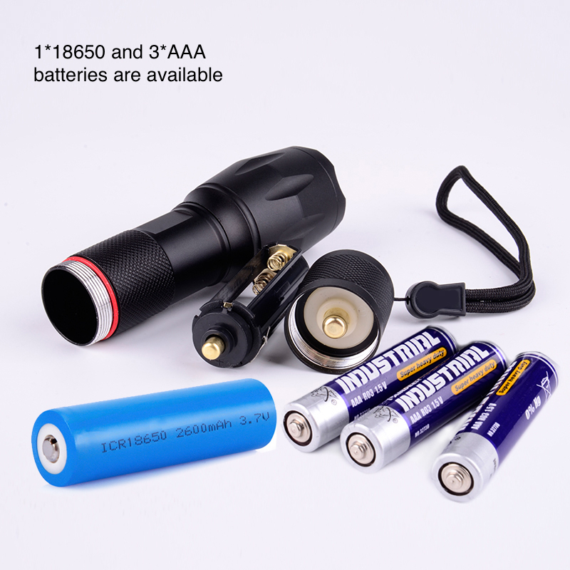 2019 New Product 1000 Lumen Handheld Zoomable Flashlight Rechargeable