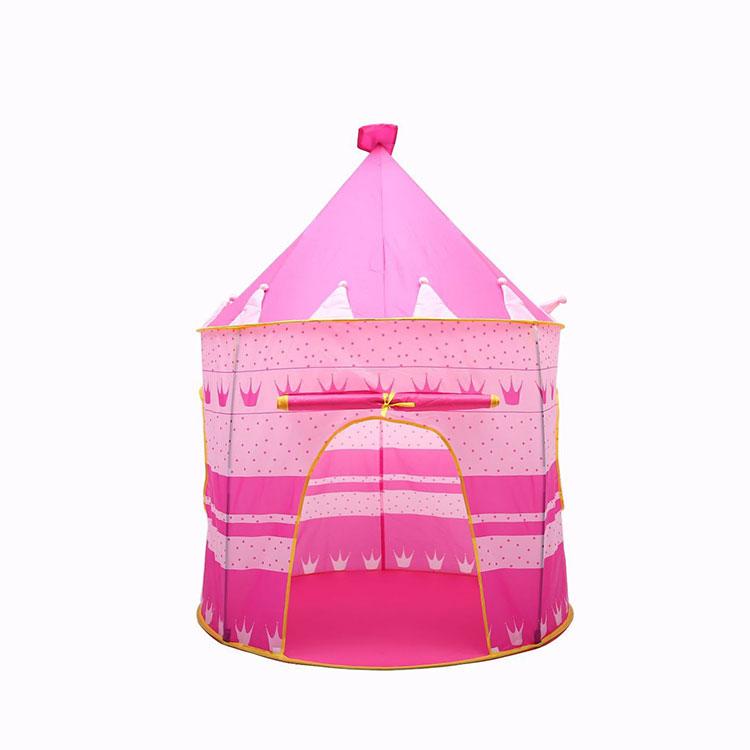 حار بيع الوردي الأزرق المحمولة للطي الأميرة تلعب خيمة للأطفال أطفال قلعة حجيرة اللعب منزل