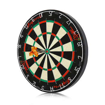 18 inch Dartboard with Top-Grade African Sisal and Sword Edge Staple Free Wire Spider