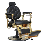 DTY wholesale heavy duty beauty salon furniture shop hydraulic antique gold barber chair