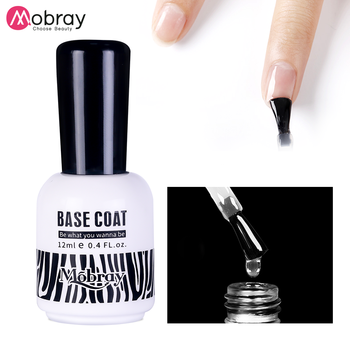 Mobray gel nail factory soak off nail gel uv 12ml top coat and base coat set