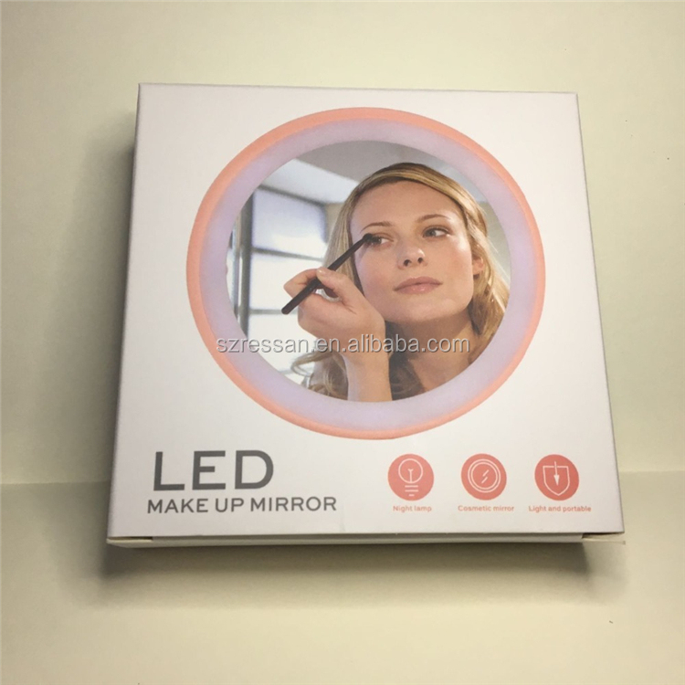 메이 컵 mirror lamp USB charging mini 휴대용 밤 빛 make-up mirror LED 아름다움 mirror creative gift