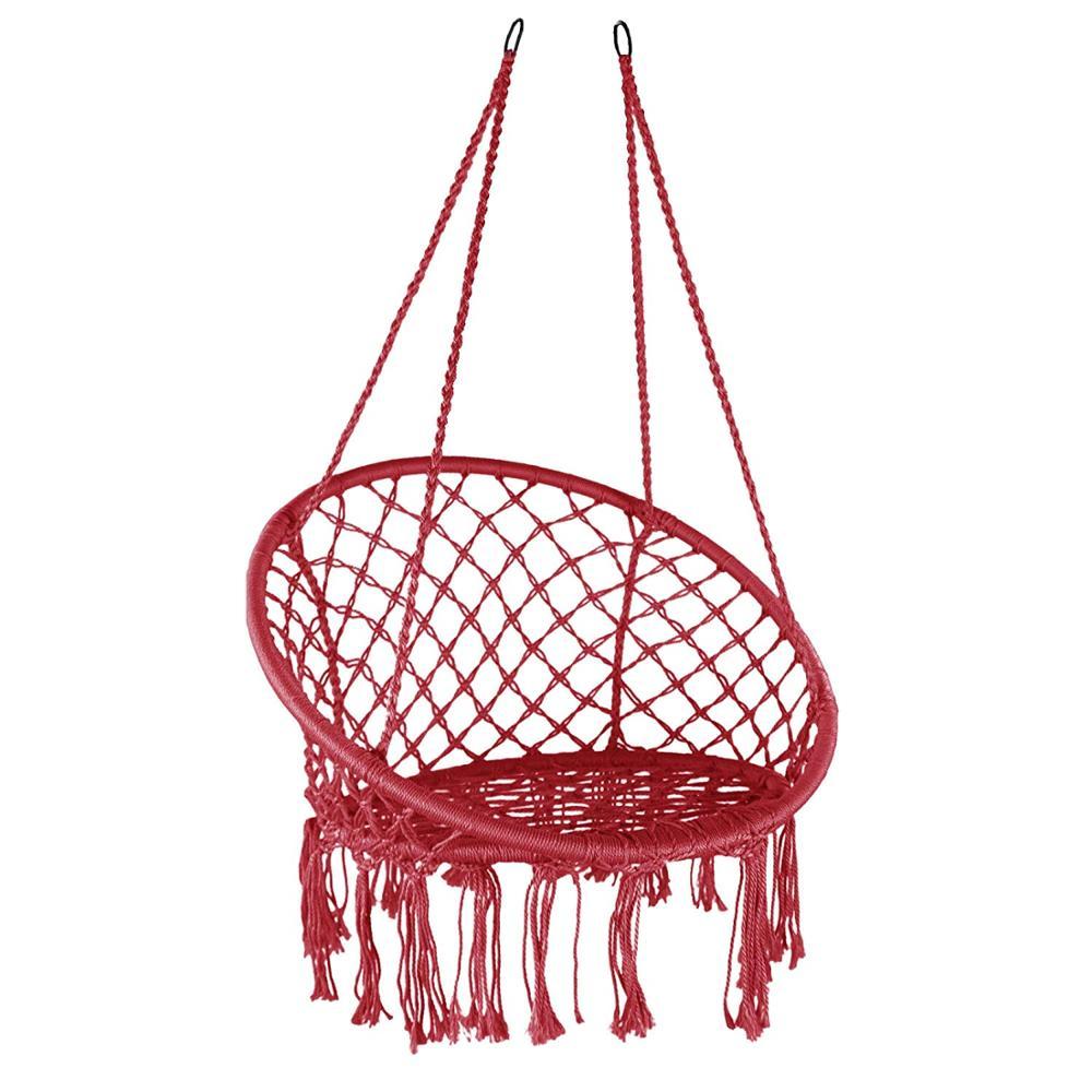 Mitte Größe Baumwolle Seil Stahl Hängen Stuhl