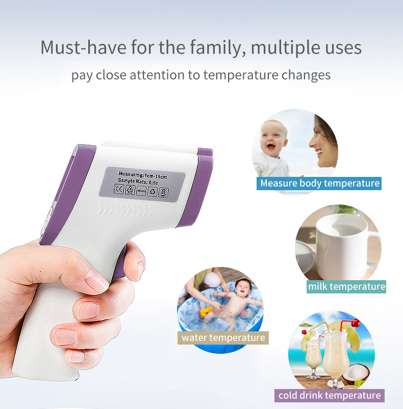 fda digital non-contact human infrared forehead thermometer gun infrared thermometer