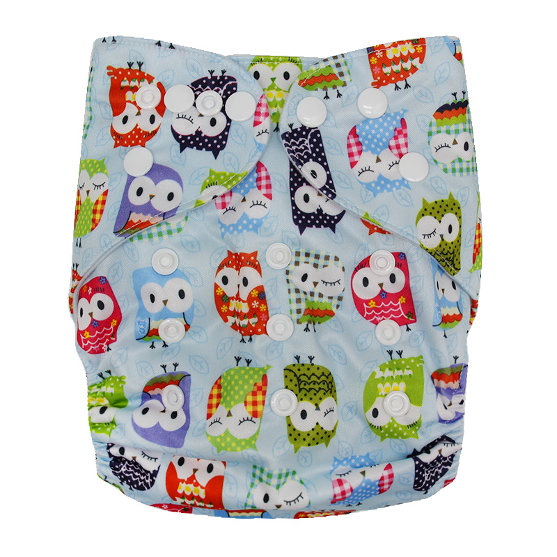 High Quality Large Size Birdseye Eco Washing Reusable Bamboo Charcoal Fitted Cover Training Insert Baby Cloth Diaper for Sale
