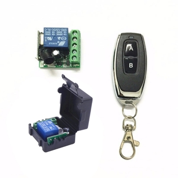 DC 12V 1CH Relay Receiver Module RF Transmitter 433Mhz Wireless Remote Control Switch