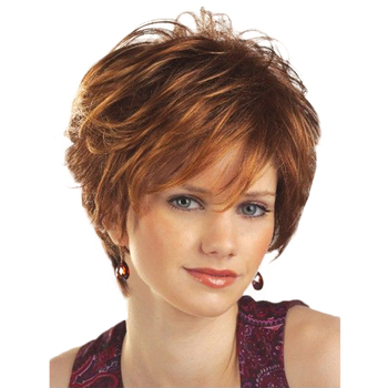 Short Pixie Cut Synthetic Hair Short Wigs Cute Summer Pixie Black Wigs for Women Natural Short Hair Wigs